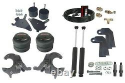 1982 2005 S10 Front Weld on Air Ride Suspension Kit Spindles Shock Relocate