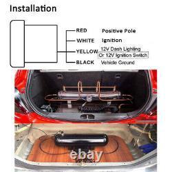 2 52mm Dual Air Suspension Pressure Gauge Bar PSI Air Ride Gauge 1/8NPT Sensors