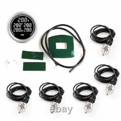 2/52mm Dual Air Suspension Pressure Gauge PSI BAR with1/8NPT Electrical Sensors