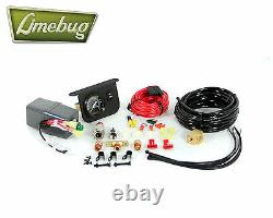 2 Gauge / Power and Tank Hookup Kit, Black, 200 PSI, 30 Amp Air Ride Suspension