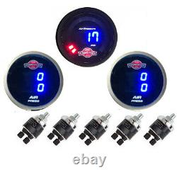 3 Digital Air Ride Gauges 1 Single Display, 2 Dual Display Air Suspension System