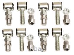 4 Sets 4 Link Bar Rod End LH & RH 3/4 Thread Bushings 5/8 thru bolt 2.00 Wide