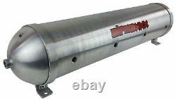 5 Gallon Aluminum Air Tank 33 Seamless Raw 9 Port Air Ride Suspension System