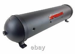 5 Gallon Aluminum Air Tank 33 Seamless Spun Black 9 Port Air Ride Suspension