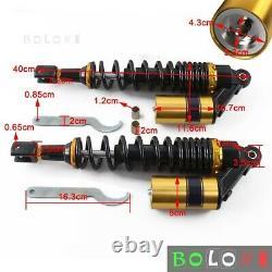 Adj Suspension Kit Springs Air Shock Absorbers + Spanner Wrench Tools Universal