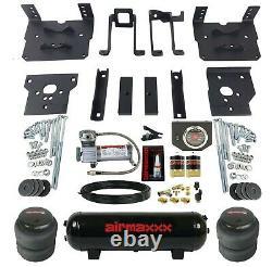 Air Bag Tow Kit Black Controls Compressor & Tank For 2011-16 Ford F250 F350 4x4