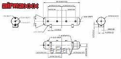 Air Ride Suspension Air Compressors 580 Black 5 Gal Tank Pressure Switch & Relay
