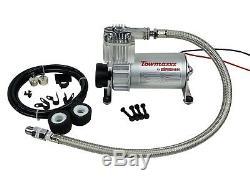 Air Tow Assist Kit 1999-06 Chevy Silverado 1500 White Gauge & Air Compressor