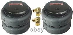Air bags two 2500 lb with 1/2 hose elbow for truck tow kit air ride suspension