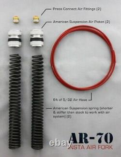 American Suspension AR-70/41A Fork Tube Air Ride Kit 00-13 Short Neck Harley FL
