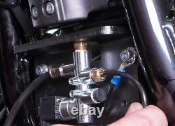 Arnott Chrome Harley Softail Air Ride Adjustable Suspension Shocks Lowering FL