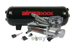 Chrome 480 Air Compressor 3 Gallon Tank Water Drain 150 on 180 off Switch