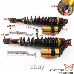 Motorcycle Gold Rear Air Shock Absorbers Suspension Kit For BMW Honda Yamaha US