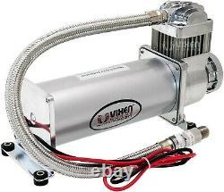 Onboard Universal Air Compressor 200PSI. 4 Car/Truck Train Horn/Suspension Kit
