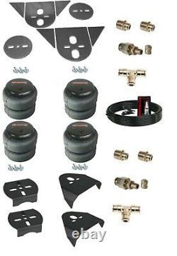Torsion Bar Import 3/8 Front Rear Air Ride Suspension Bag Bracket Mount Kit
