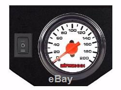 Tow Assist Air Bag Over Load Kit White Gauge Tank 2001-10 Chevy 2500 3500 Truck