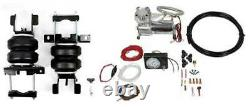 Tow Assist Bag Suspension Over Load with Compressor + Gauge 07+ Chevy GM 1500