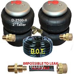 V 2 Air Ride Suspension 2500-II (2 Taller) Air Bags 3/8 Airline & FITs