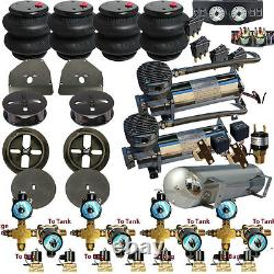 V DC480 Airbagit 1963-72 C10 Air Suspension 3/8 7 SwitchBox withCOILprng