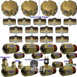 V xfitx Air suspension valve FIT Everything U need for 8-Brass Valves 1/2