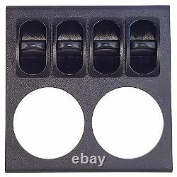 2 Gauges D'air À Double Aiguille Et Panneau D'affichage 200psi 4 Interrupteurs De Paddle Suspension D'air