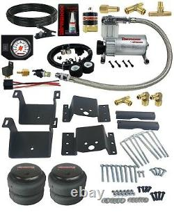 Air Helper Kit White Gauge On Board Control 2018-19 Chevy 8 Lug Truck 2500 3500