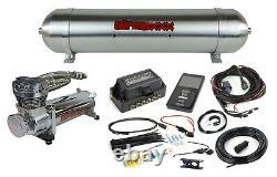 Air Lift 3p 27685 3/8 5 Gallon Seamless Raw Aluminum Tank Chrome 480 Compresseur