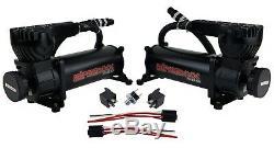 Air Ride Suspension Compresseurs 580 Black 5 Gal Réservoir Sous Pression Commutateur Et Relais