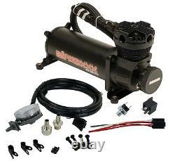 Airmaxxx Black 480 Kit Compresseur D'air Avec Relocalisateur De Filtre D'admission D'air 180 Psi