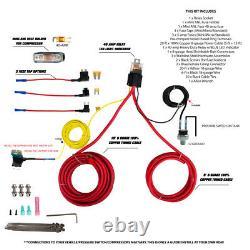 Airmaxxx Chrome 580 Compresseur D'air & Avs Kit De Câblage De Compresseur Simple