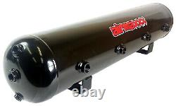 Airmaxxx Chrome Double Compressor Wire Kit 5 Gallon Steel 9 Port Tank Air Ride