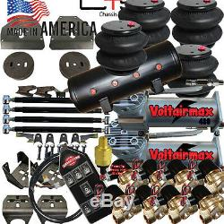 B Airbagit 73-87 C10 Suspension Pneumatique Avec 1/2 Vannes 7-switch 8valves 8-tank