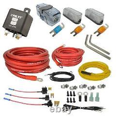 Câblage Double Compresseur D'air Kit Par Avs Evolve Suspension Pneumatique