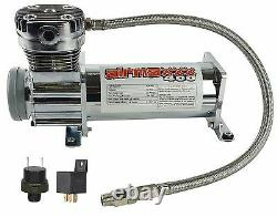 Compresseur D'air Chrome 400 Airmaxxx 3 Gallons Réservoir D'air De Vidange 165 Sur 200 Hors Commutateur