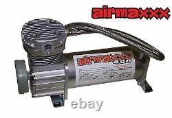 Compresseurs D'air 400 Pewter 3/8 Valves 2500 Air Ride Bags Black 7 Switch & Tank