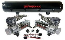 Kit Air Pour Chevy S10 Chr 480 Airmaxxx 1/2 Valves Blk 9 Interrupteur Air Lift D25 D26