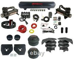 Kit Complet De Suspension Air Ride 73-87 Gm C10 Evolve Manifold Bags 480 Black