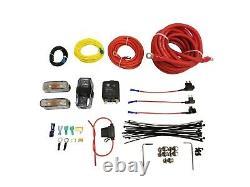 Kit Complet De Suspension Air Ride Pour 88-98 Chevy C15 Avec Sacsmanifold Et 480 Noir