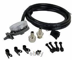 Kit Compresseur D'air Chrome Avec Ventilateur D'admission D'air Relocator Airmaxxx 480 180 Psi