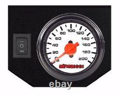 Kit De Ressort D'aide À L'air Dans La Cabine Jauge Blanche Sur Le Niveau De Charge Pour 05-10 Ford F250 2wd