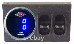 V Air Gauge Dual Digital 200psi Display 1 Elect Switch, 1 Manuel Switch To Dump