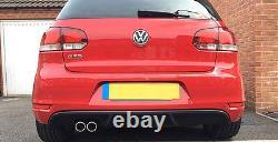 Vw Golf Mk6 6 Gti Style Bumper Arrière Inférieur Spoiler Lip Sport Valance Diffuseur Gt